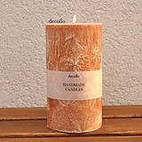 Hnedo-oranžová sviečka Ø65