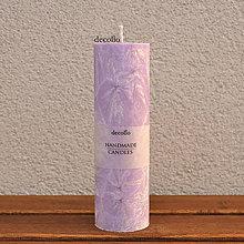Svietidlá a sviečky - Fialová sviečka Ø45 - 7577132_