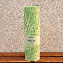 Svietidlá a sviečky - Zelená sviečka Ø55 - 7577404_