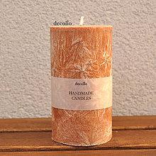 Svietidlá a sviečky - Hnedo-oranžová sviečka Ø65 - 7577748_