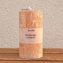 Svietidlá a sviečky - Hnedo-oranžová sviečka Ø55 - 7577791_