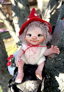 Bábiky - ♥ Malý Elfík AMANITA ♥ - 7576657_