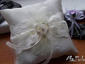 Prstene - svadobný vankúšik na obrúčky VII. - 7574485_