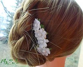 Ozdoby do vlasov - kvetinkový hrebienok - 7574680_