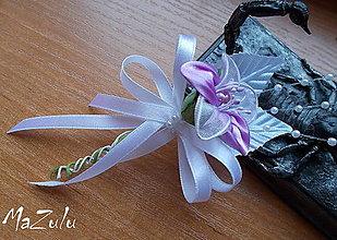 Pierka - svadobné pierko fialové - 7574937_