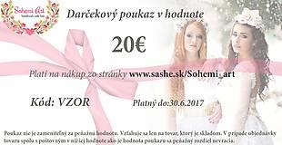 Ozdoby do vlasov - Darčekový poukaz v hodnote 20€ - 7576292_