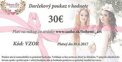 Ozdoby do vlasov - Darčekový poukaz v hodnote 30€ - 7576291_