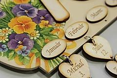Dekorácie - Gravírovanie prvkov na rodinný kalendár (1 ks) - 7575118_