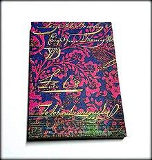 Papiernictvo - Ručne šitý zápisník/denník/diár/notes Orientálne kvety 2. - 7575377_