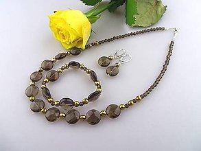 Sady šperkov - záhneda hematit náhrdelník, náramok, náušnice - 7574426_