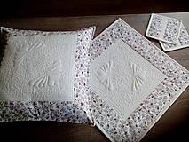 Úžitkový textil - Súprava vankúš + obrúsok - 7574953_