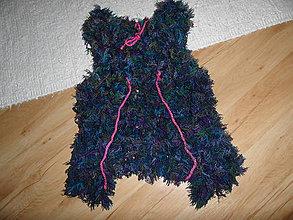 Detské oblečenie - chlpatá vestička - 7575596_