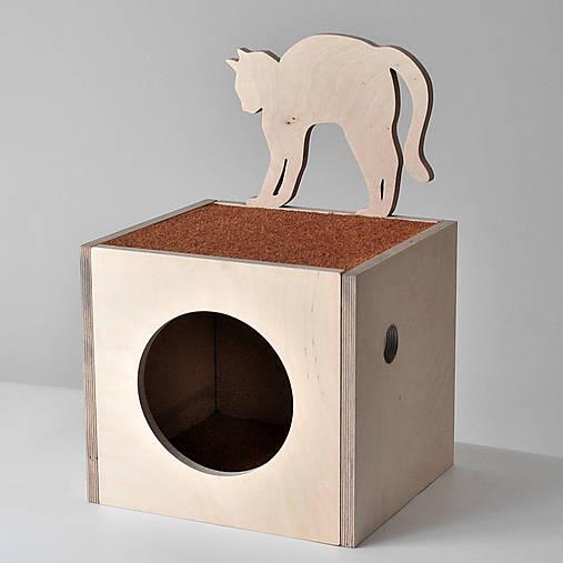 Domček pre mačku   WOODYMAN - SAShE.sk - Handmade Pre zvieratká 34ea288f87d