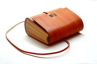 Papiernictvo - Zápisník z pravej kože KCHUN - 7576050_