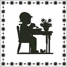 Návody a literatúra - B002 Chlapček pri jedle - 7577966_
