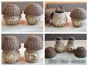 Nádoby - pohár na sušené hríby - 7576980_
