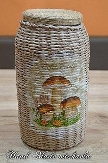 Nádoby - pohár na sušené hríby - 7576997_