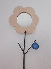 Zrkadlá - Zrkadlo z dreva - kvet - 7575934_