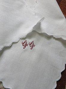 Iné doplnky - vreckovka s monogramom - 7577070_