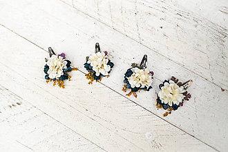 Ozdoby do vlasov - Kvetinové pukačky