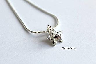 Náhrdelníky - Prívesok Swarovski Star Crystal - 7574628_