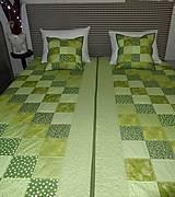 Úžitkový textil - Patchwork. súprava - zelené kocky - 7577430_