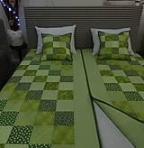 Úžitkový textil - Patchwork. súprava - zelené kocky - 7577431_