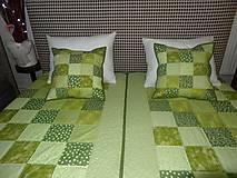 Úžitkový textil - Patchwork. súprava - zelené kocky - 7577432_