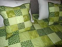 Úžitkový textil - Patchwork. súprava - zelené kocky - 7577436_