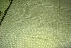 Úžitkový textil - Patchwork. súprava - zelené kocky - 7577437_