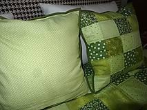 Úžitkový textil - Patchwork. súprava - zelené kocky - 7577438_