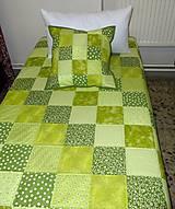 Úžitkový textil - Patchwork. súprava - zelené kocky - 7577439_