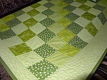 Úžitkový textil - Patchwork. súprava - zelené kocky - 7577440_