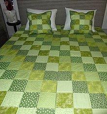 Úžitkový textil - Patchwork. súprava - zelené kocky - 7577435_