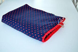 Textil - Deka Navy bodka - 7576245_