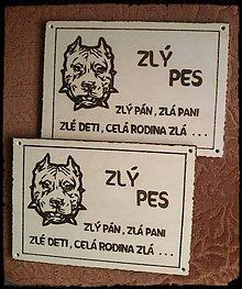 Tabuľky - Pozor pes - 7575712_