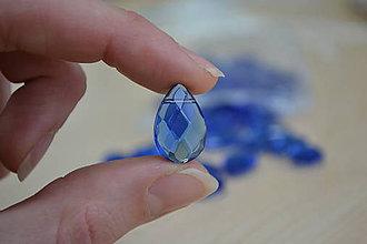 Korálky - Korálka slza sklo kráľovská modrá 18mm, 0.25€/ks - 7575533_