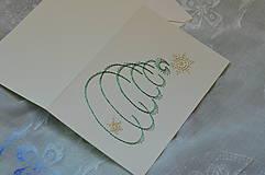 Papiernictvo - Vyšívaná pohľadnica - vianoce 3 - 7575960_
