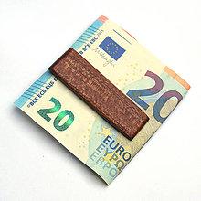 Tašky - Mahagónová spona na peniaze - 7573972_