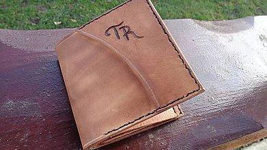 Peňaženky - Peňaženka z hovädzej kože - 7574539_