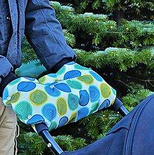 Textil - Kruhy - modrá, zelená, žltá - 7580421_