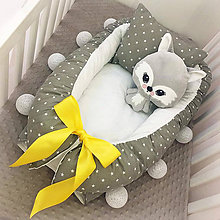 Textil - Hniezdo pre novorodeniatko - Stars Ribbon - 7580694_