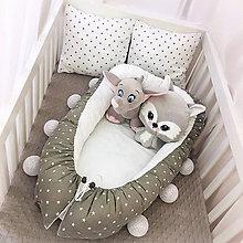 Textil - Hniezdo pre novorodeniatko - Stars + 2 vankúšiky - 7581298_