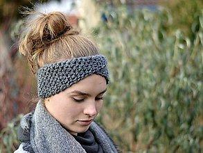 Ozdoby do vlasov - Čelenka s preložením: sivý melír - 7578646_