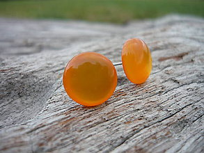 Náušnice - Náušnice Pomaranče puzetové - 7581513_