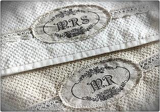 Úžitkový textil - Mr & Mrs uterák - 7580492_