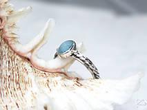 Prstene - Strieborný prsteň s akvamarínom - Nebíčko - 7580391_