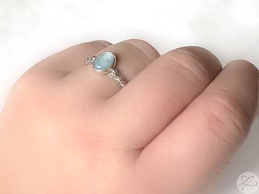 Strieborný prsteň s akvamarínom - Nebíčko