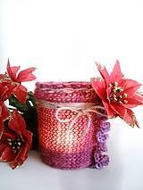 Svietidlá a sviečky - Svietnik Vianočná ruža - 7580142_