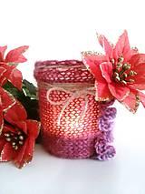 Svietidlá a sviečky - Svietnik Vianočná ruža - 7580146_